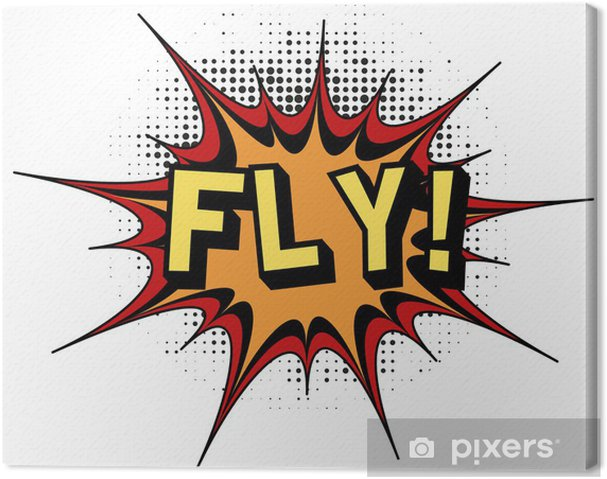 Obraz na płótnie Fly.Comic eksplozja książka. - Tekstury