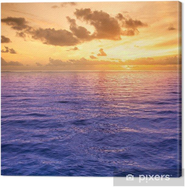 Obraz na płótnie Folly Beach Ocean Sunset Krajobraz krajobraz sceny - Woda