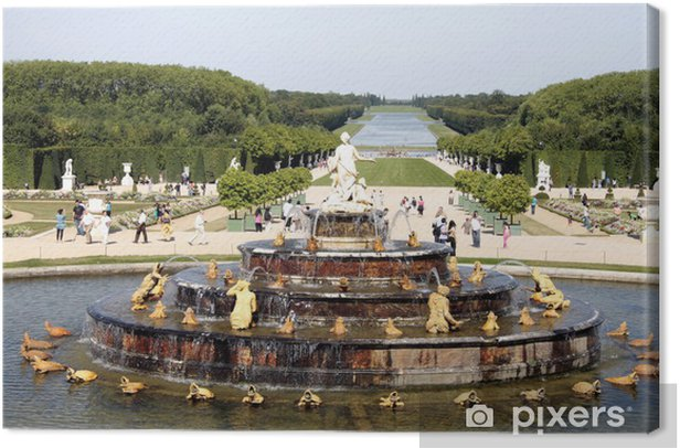 Obraz na płótnie Fontanna i duży podjazd, Wersal - Miasta europejskie