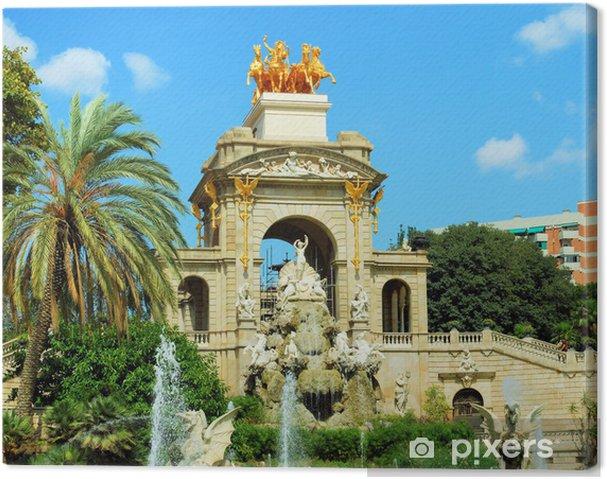 Obraz na płótnie Fontanny i kaskady w parku de la Ciutadella w Barcelonie, spai - Tematy