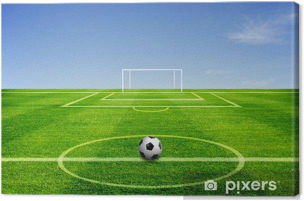 Obraz na płótnie Football piłka na polu - Sporty drużynowe