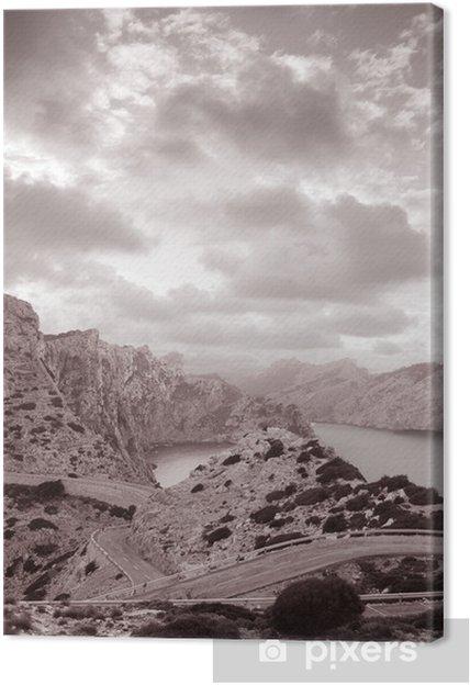 Obraz na płótnie Formentor w Mallorca, Hiszpania w czerni i bieli sepię - Tematy