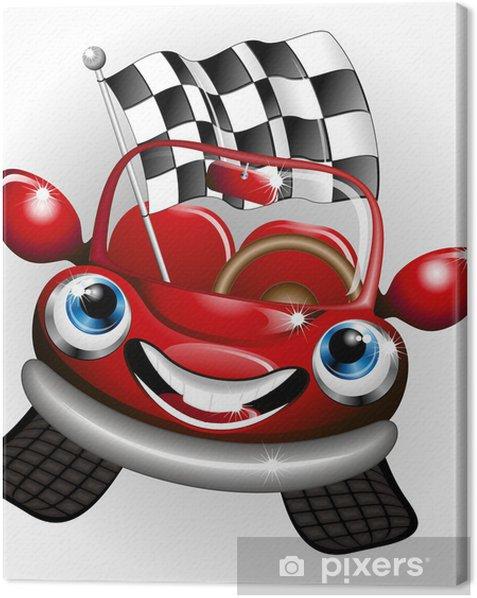 Obraz na płótnie Formuła 1 Cartoon Automobile - Transport drogowy
