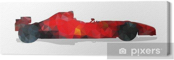 Obraz na płótnie Formuła samochód wyścigowy. Red abstrakcyjne ilustracji wektorowych geometryczne. - Sport