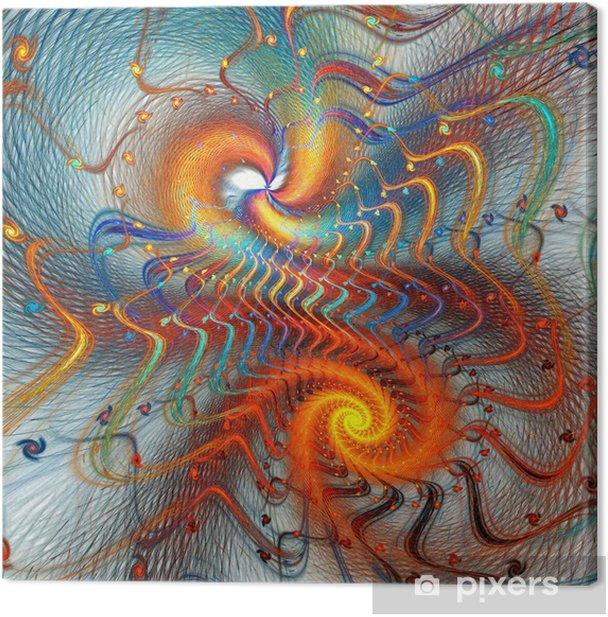 Obraz na płótnie Fractal tle spirali -