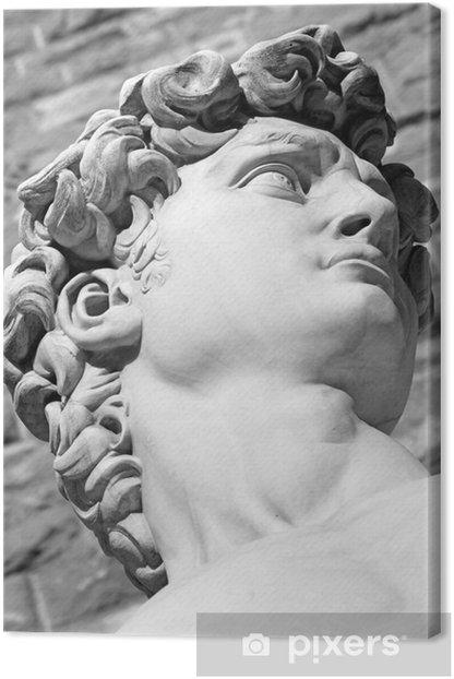 Obraz na płótnie Fragment słynnej włoskiej rzeźby - Dawid Michała Anioła, bl - Zabytki