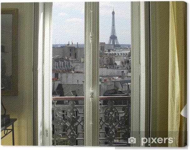 Obraz na płótnie Francja - Paryż - Okno z wieży Eiffla i dachy Zobacz - iStaging