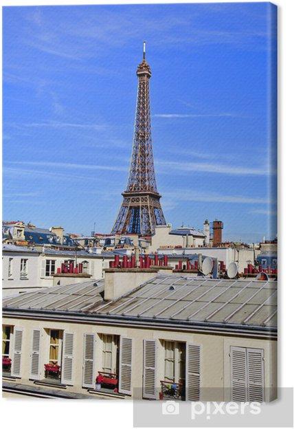 Obraz na płótnie Francja, Paryż, siódme: Wieża Eiffla Grenelle Ulica - Miasta europejskie