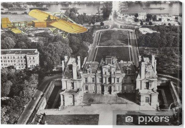 Obraz na płótnie Francuski antyczny archiwalne kolażu. - Zasoby graficzne