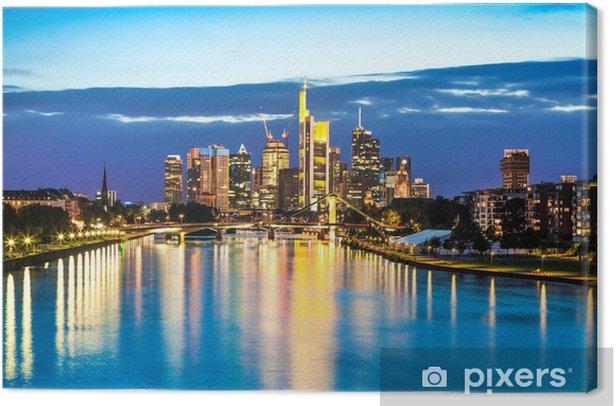 Obraz na płótnie Frankfurt am Main o zmierzchu, Niemcy - Europa