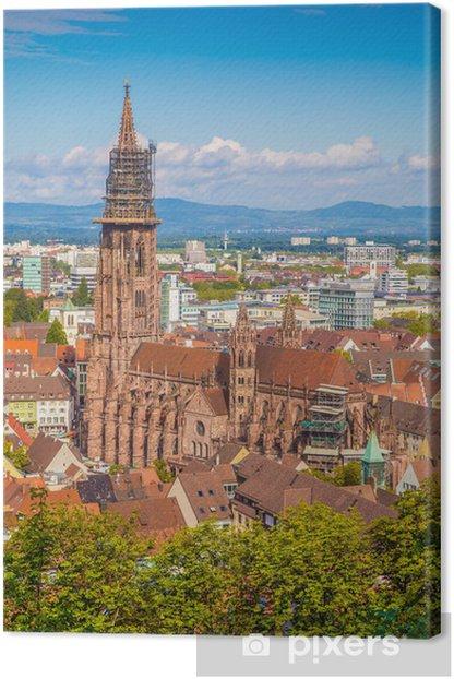 Obraz na płótnie Freiburger Münster kościół, Fryburg Bryzgowijski, Baden-Württemberg, Niemcy - Europa