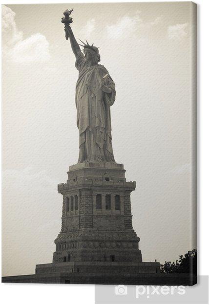 Obraz na płótnie Freiheitsstatue w Nowym Jorku, monochrom - Tematy
