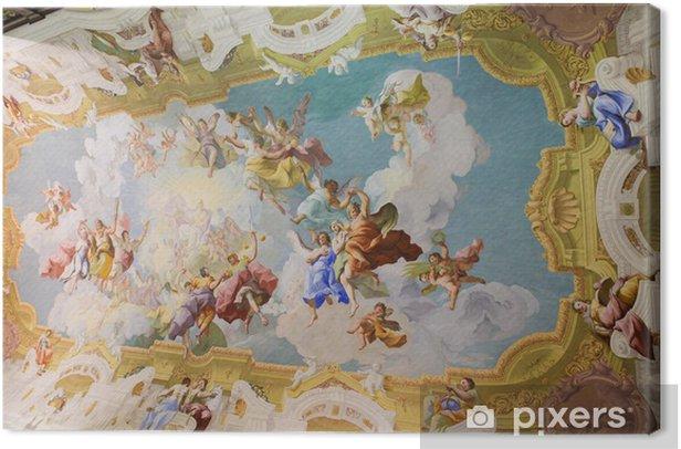 Obraz na płótnie Fresk na suficie w Stift Melk, Austria - Miasta europejskie