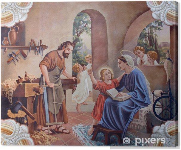 Obraz na płótnie Fresk świętej rodziny z wiejskiego kościoła - Tematy