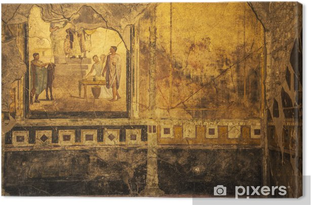 Obraz na płótnie Freski w Pompejach - Europa