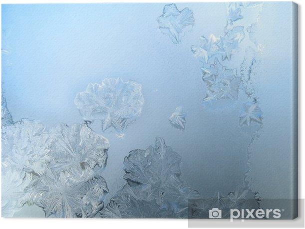 Obraz na płótnie Frosty wzór na szybie okna zimą - Zasoby graficzne