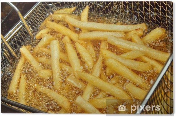 Obraz na płótnie Frytki w frytkownicy bliska - Posiłki
