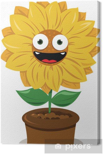 Obraz na płótnie Funny Sunflower - Kwiaty