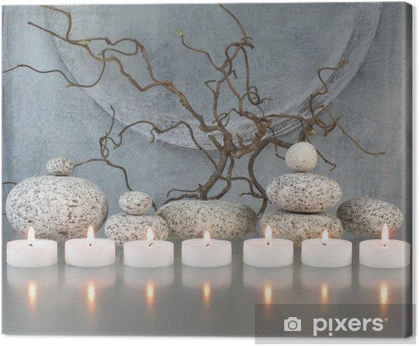 Obraz na płótnie Gałązki, kamienie, świece - Przeznaczenia