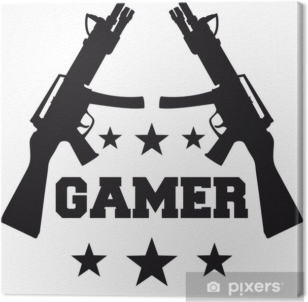 Obraz na płótnie Gamer - Naklejki na ścianę