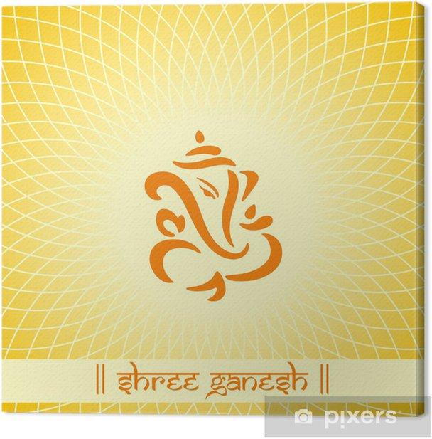 Obraz na płótnie Ganeśa, hindu wedding card, królewski Rajasthan, Indie - Świętowanie