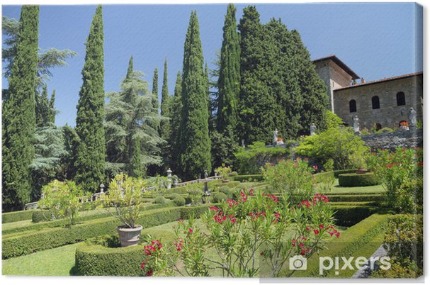 Obraz na płótnie Garden Villa Peyron w Fiesole, Florencja, Toskania, Włochy, Eur - Europa