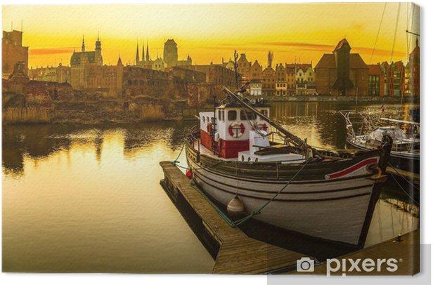 Obraz na płótnie Gdańsk o zachodzie słońca - Tematy
