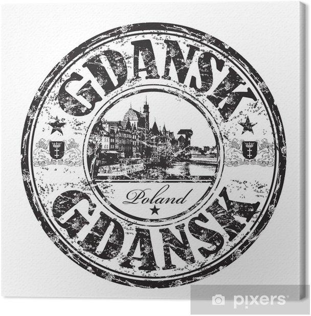 Obraz na płótnie Gdansk pieczątka grunge - Europa