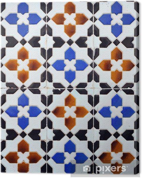 Obraz na płótnie Geometryczne dekoracyjne płytki, - Europa