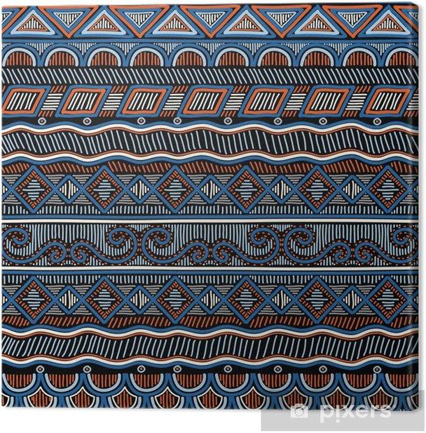 Obraz na płótnie Geometryczne etniczne orientalny wzór. ręcznie doodled tradycyjny design na dywan, tapety, tekstylia i tkaniny. hafty stylizowane ilustracji wektorowych. - Zasoby graficzne