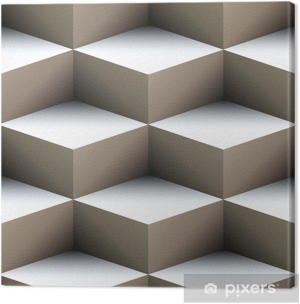 Obraz na płótnie Geometryczne szwu wykonane z ułożonych kostek - Style