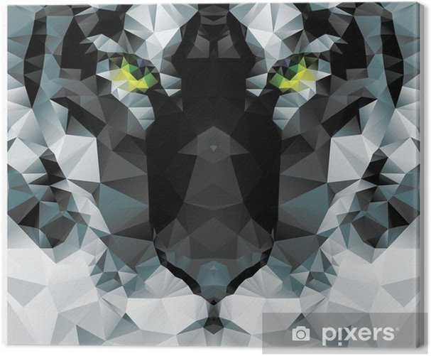 Obraz na płótnie Geometryczne wielokąt biały tygrys głowy, wzór projekt trójkąt - Przeznaczenia