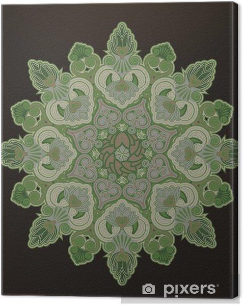 Obraz na płótnie Geometryczny ornament promieniowe - Tła