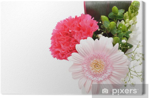 Obraz na płótnie Gerbera kwiat układ i goździka - Kwiaty
