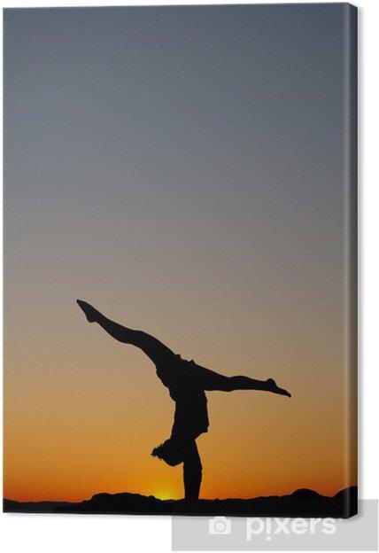Obraz na płótnie Gimnastyczka sunset - Sztuka i twórczość