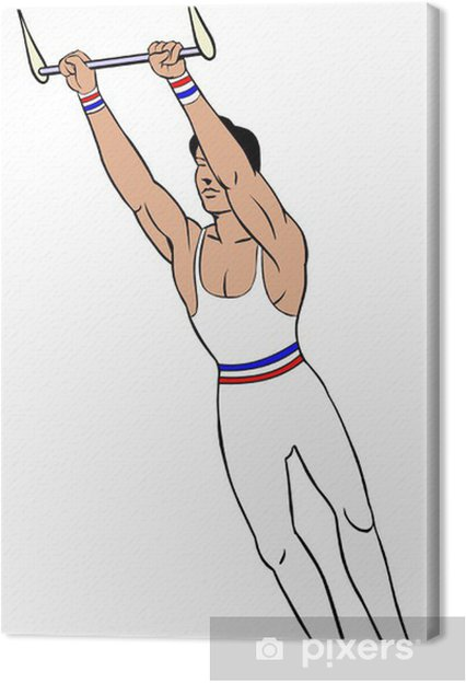 Obraz na płótnie Gimnastyk na trapezie - Rozrywka