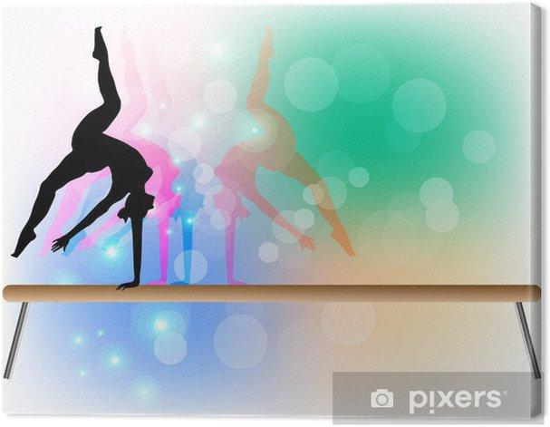 Obraz na płótnie Gimnastyka sportowa - Belka - Tancerze