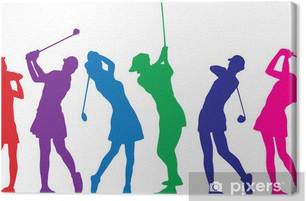 Obraz na płótnie Girls golf - Sporty indywidualne