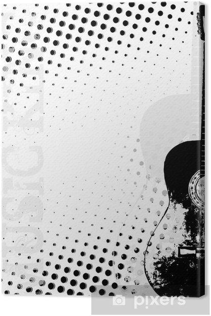 Obraz na płótnie Gitara plakat tło kropki - Tematy