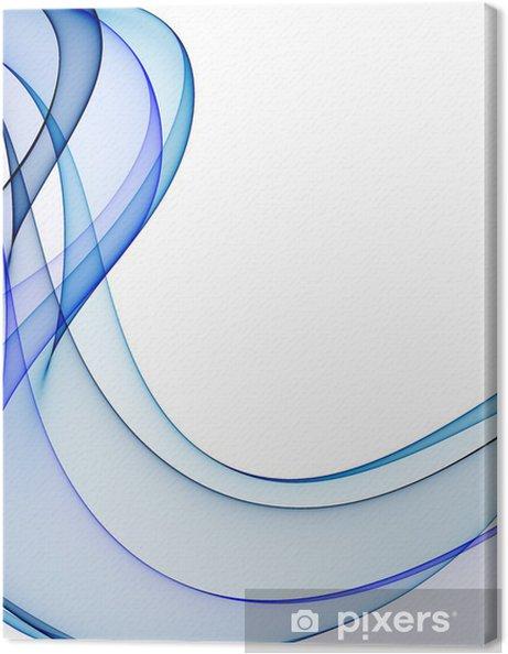 Obraz na płótnie Gładkie fale z odcieniami niebieskiego na białym tle - Tematy