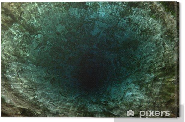 Obraz na płótnie Głęboka dziura w oceanie - Woda