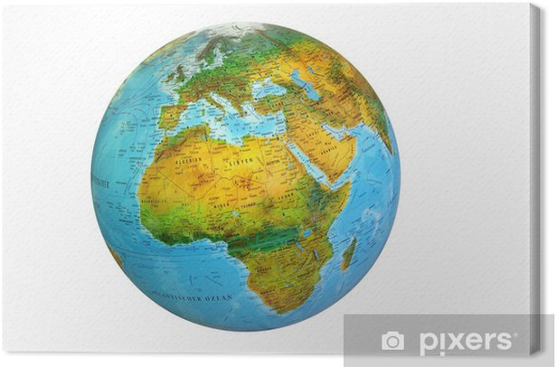 Obraz na płótnie Globus 104,1 - Afryka