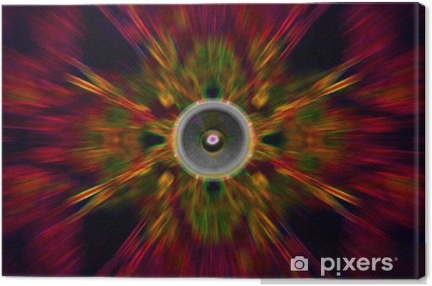 Obraz na płótnie Głośnik na czerwonym tle nieostry - Muzyka