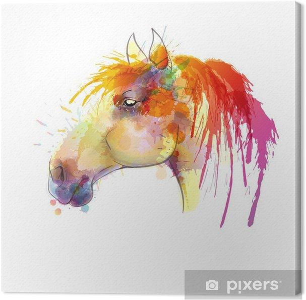 Obraz na płótnie Głowa konia akwarela - Inne Inne