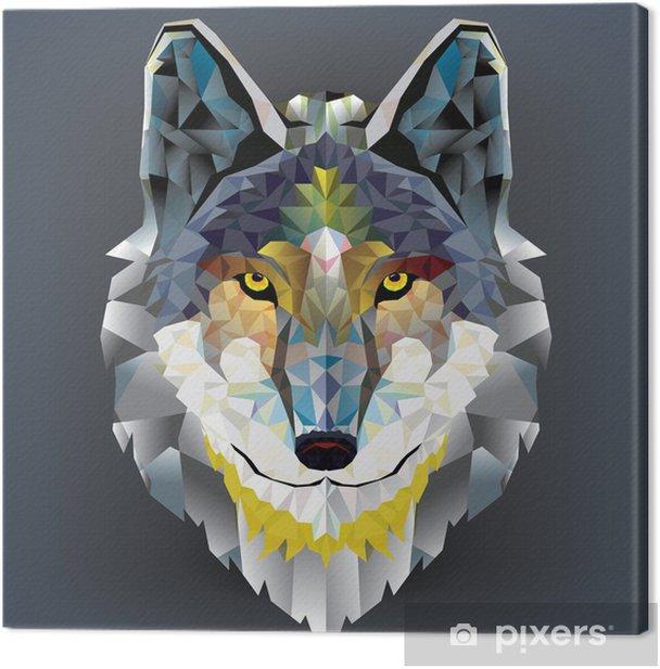 Obraz na płótnie Głowa wilka geometryczny wzór. wektor - Husky