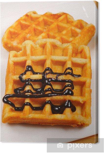 Obraz na płótnie Gofres - Słodycze i desery