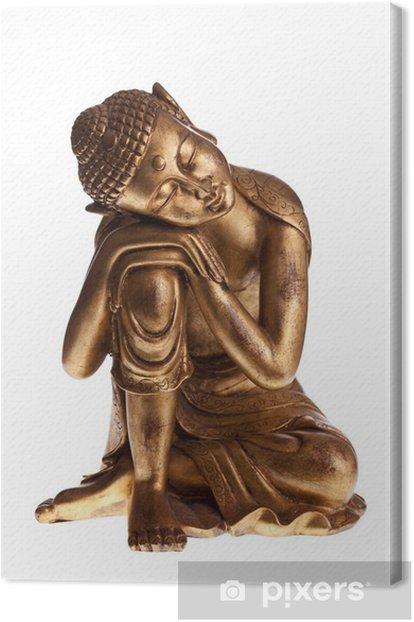 Obraz na płótnie Golden Buddha Pojedyncze - Naklejki na ścianę