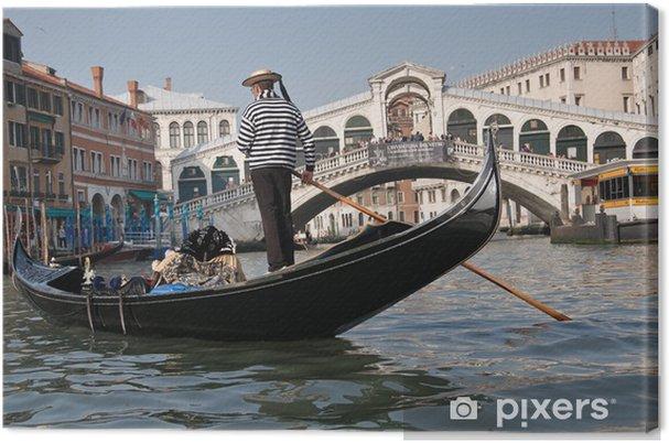 Obraz na płótnie Gondolier, Most Rialto, Grand Canal, Wenecja, Włochy - Wakacje