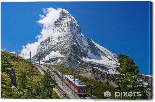 Obraz na płótnie Gornergrat pociąg i Matterhorn. Szwajcaria - Europa