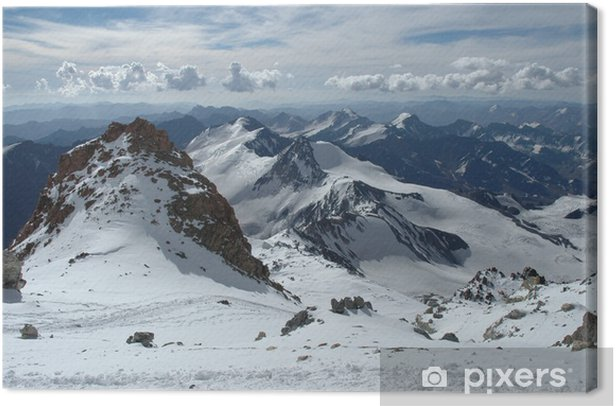 Obraz na płótnie Górski krajobraz na szczycie Aconcagua - Ameryka